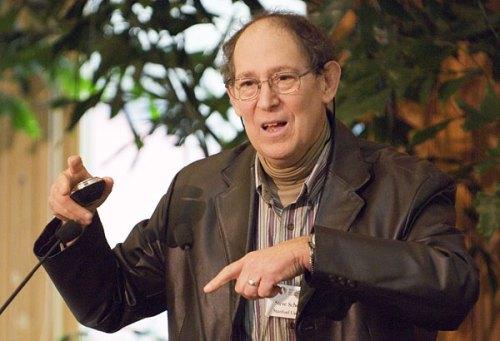 Dr Schneider explaining something.